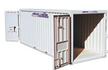 front view of storage container